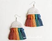 Rainbow Earrings - Macrame Rainbow Earrings