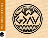 God is Greater than the highs and lows Svg God is Greater svg God svg Christian svg Religious svg Mountain svg silhouette God svg
