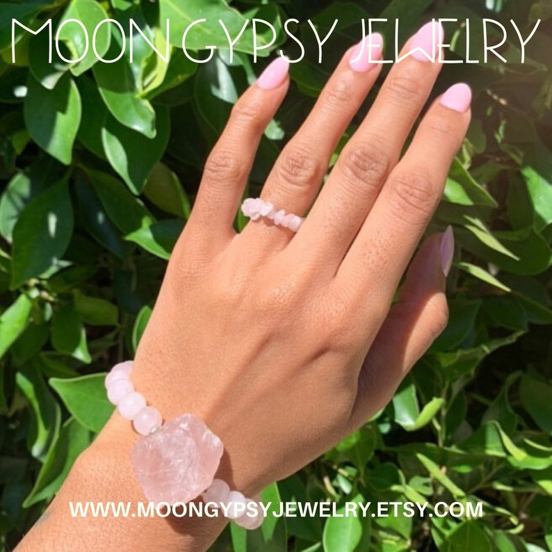Gemstone Ring Rose Quartz Ring  Statement Ring  Gemstone Ring  The \u201cQuartzy Ring\u201d