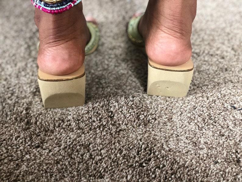 Vintage Beaded slide in heels