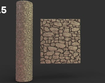 Fantasy Rolling Pin Textured Rollers Set 2 D&D Terrain 28mm   32mm (DnD, Dungeons and Dragons, Pathfinder, Starfinder, Frostgrave, Mordheim)