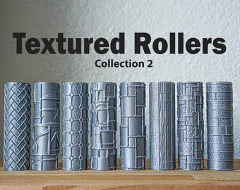 Textured Rollers Collection 2 Clay/Foams D&D Terrain 28mm   32mm (DnD, Dungeons and Dragons, Warhammer, Pathfinder, Starfinder, Frostgrave)