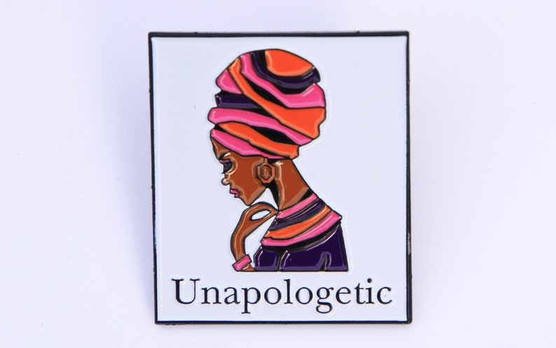 Unapologetic Nubian Queen pin badge image 0