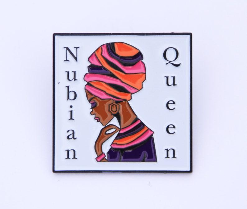 Nubian Queen enamel pin badge image 0