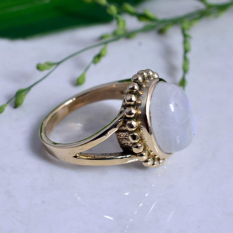 Moonstone Ring,Handmade Ring,vintage Ring,boho Rings,Gift For him.Promise Ring,Statement Ring,Boho Rings