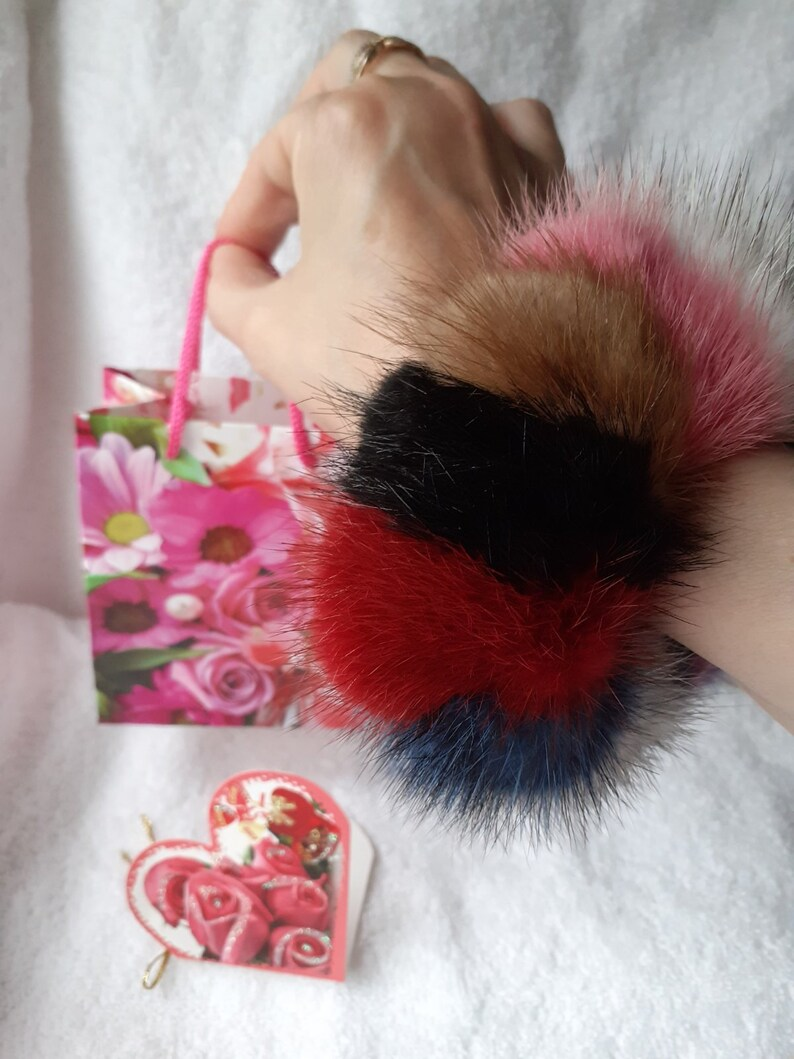 Mother/'s day gift  of fur Scrunchie Personalized gift Valentine day gift for her Valentine day gift for kids Mother/'s day gift for Mom aunt