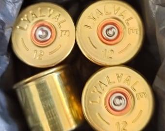 086 TIE CLIP tie tac clay shooting personalised ENGRAVED novelty birthday christmas wedding gift shooting Gun cartridge cartridge