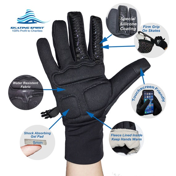 Figure Skating Gloves For Competition and Practice with Gel Wrist Protection