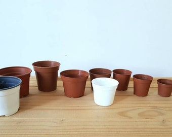 Small size pots | Mini nursery growing pots specifically selected for African Violets|Suitable for tiny plants (seedlings)