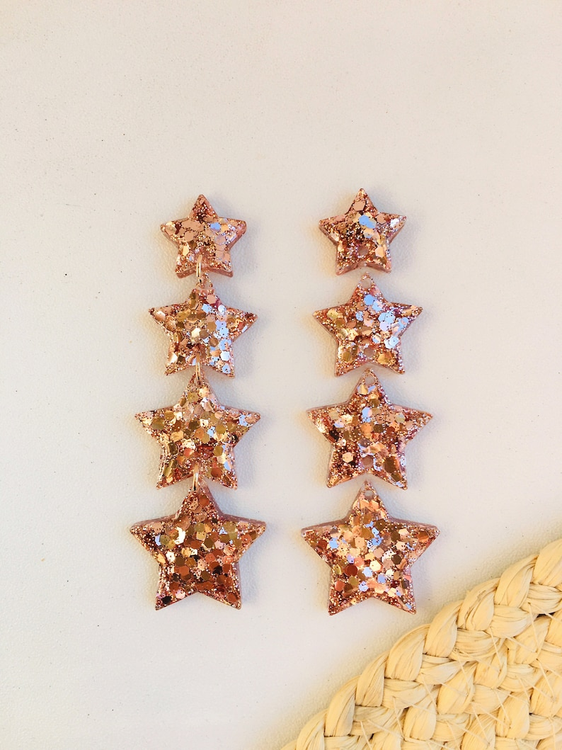 Silicone mold for UV and epoxy resin Clear gloss resin from stars.Stars Earrings.Set of do-it-yourself earrings Stud earrings stars Mold