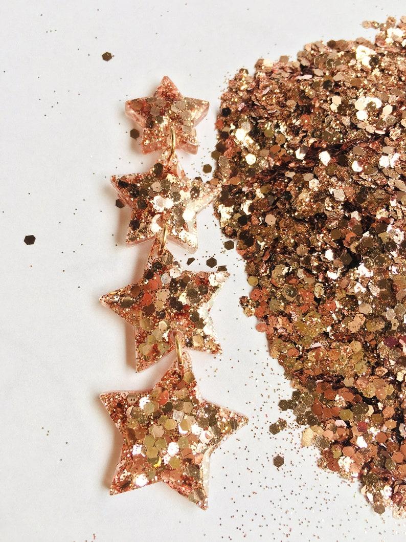 Glitter rose gold Hexagon Eco-friendly 20 g 0,7 oz
