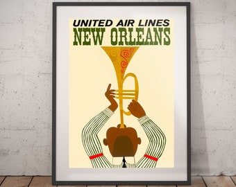 new orleans, new orleans travel poster, new orleans poster, new orleans print, new orleans travel, travel poster, wall decor