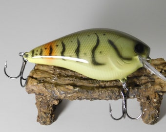 Custom Airbrushed Painted Pattern Fishing Lure Crankbait Handpainted Unique Design In Depth Colors Baits Hooks Artistically Crafted Jerkbait