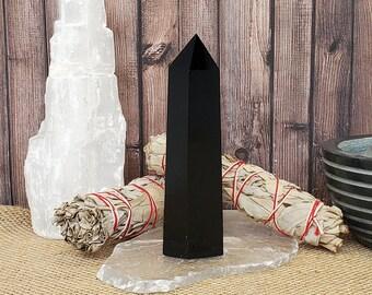 "4.25"" Black Obsidian Crystal Tower"