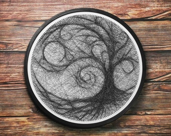 Weeping Willow String Art DIY Wall Art Halloween Tree Home Decor Willow Tree Wall Hanging