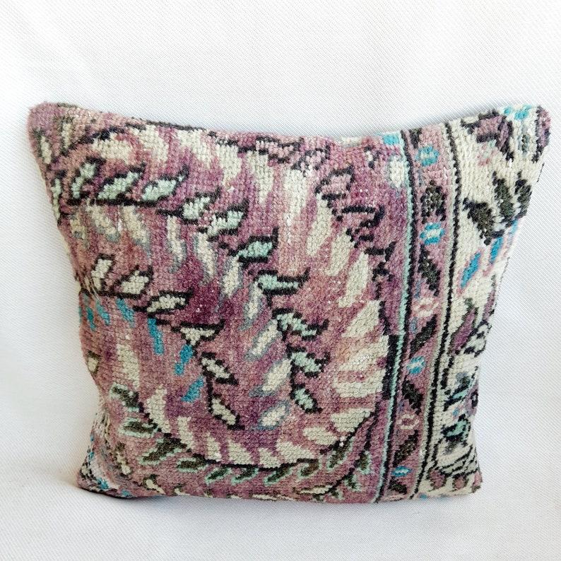Oriental Pillow Vintage Pillow Rug Pillows Rug Pillow Cover Handwoven Pillow Home Decor Rug Cushion Cover Turkish Pillow