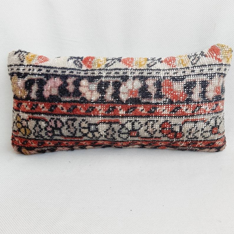 Lumbar Pillow Vintage Rug Pillow 12x24 Rug Pillow Oushak Rug Pillow Turkish Rug Pillow Anatolian Pillow Rug Pillow Cover