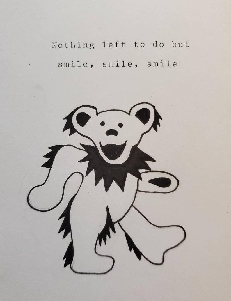 Grateful Dead/'s He/'s Gone lyric typewriter print
