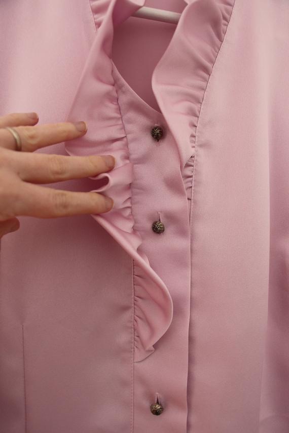 Vintage lilac ruffled blouse - image 8