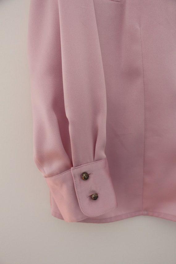 Vintage lilac ruffled blouse - image 7