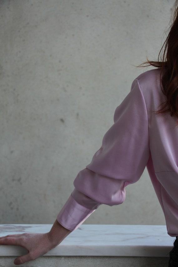 Vintage lilac ruffled blouse - image 6
