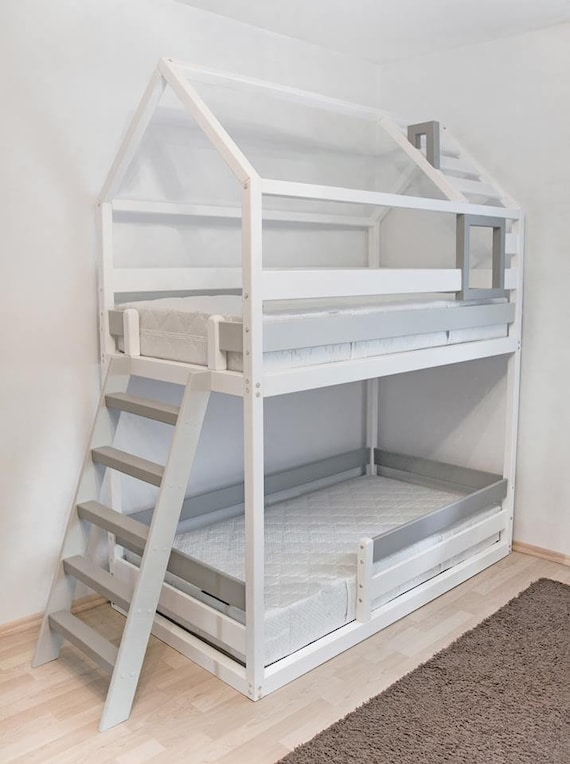 Bunk Double Loft Bed Double Loft Bed Loft Bed Bunk Bed Etsy