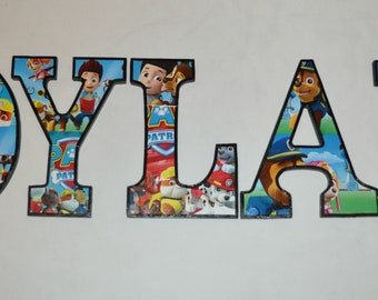Personalized Customized Paw Patrol #1 Name Banner Wall Decor Poster with Frame