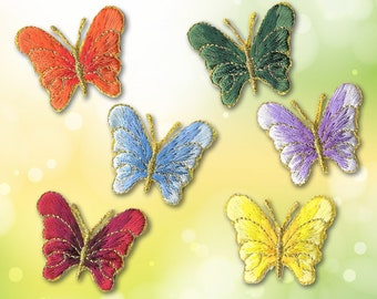 flower butterfly heat transfer iron on patches badge cloth dress applique craft/&