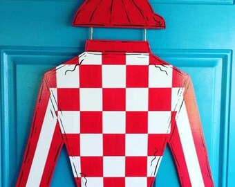 KY Derby Jockey Silks Door Hanger Kentucky Derby Horse Race Hanger Decoration wreath