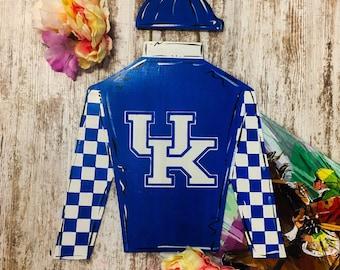 Kentucky Jockey Silks Door Hanger UK Decor Secretariat derby wreath