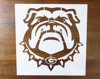 """Bulldog Bull Dog Georgia Bulldogs 11/"""" x 8.5/"""" Custom Stencil FAST FREE SHIPPING"""