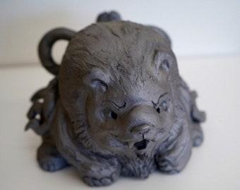 Kumagoro -Sumo wrestler of bear  (gift,ornament,amlet,Japanese items,Japanese art  -new style pottery-)
