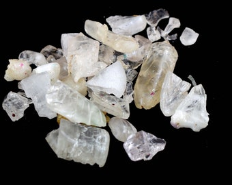 Unheated Excellent Quality 40 Carat Wiccan Rocks AAA Natural Ceylon Earthmined African White Sapphire Loose Gemstone Cut Grade Rough