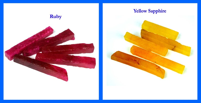 Natural Madagascar Yellow Sapphire /& African Ruby 600 Ct+10 Pcs Gemstone Slice Rough Lot