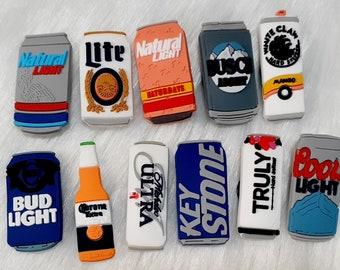 Beer croc charms - beer can croc charms - beer jibbitz -.miller lite jibbitz