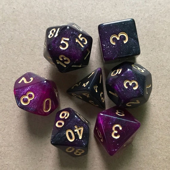 Butterfly SKy dnd dice set 4 Dungeons and Dragons D20 Polyhedral dIce SEt