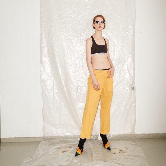 Vintage Burberrys yellow festival pants