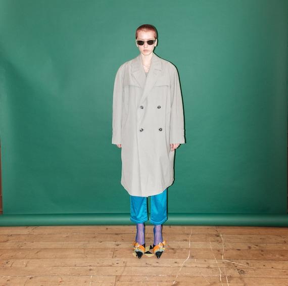 Vintage oversized grey trench-coat / UNISEX