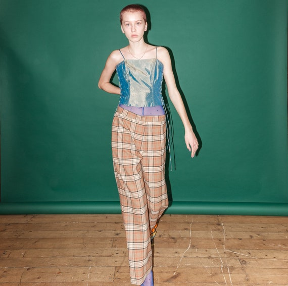 Vintage checkered pants - image 6