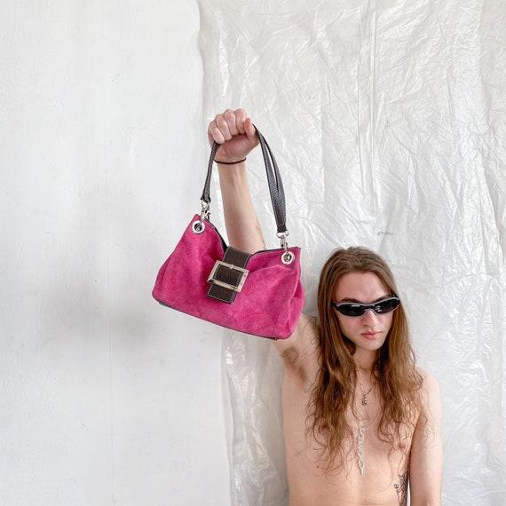 Vintage Y2K pink rave shoulder bag / 2000s