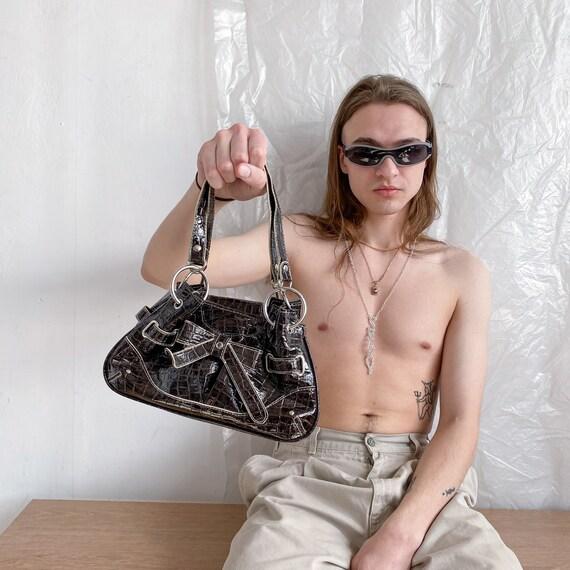 Vintage Y2K brown shoulder bag