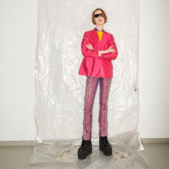 Vintage retro pink blazer - image 6