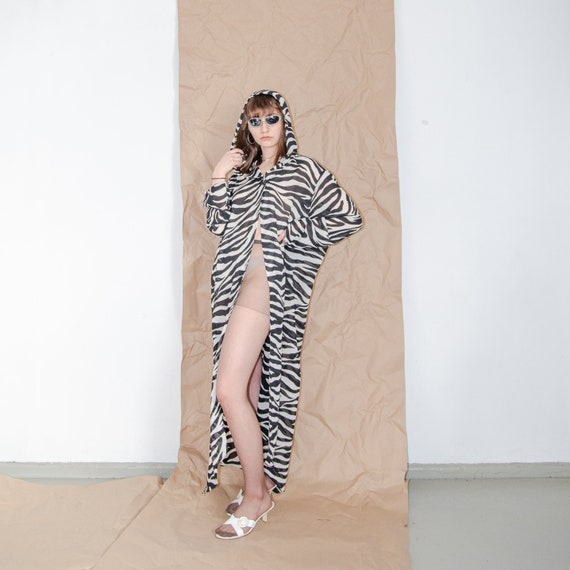 Vintage zebra print summer maxi dress