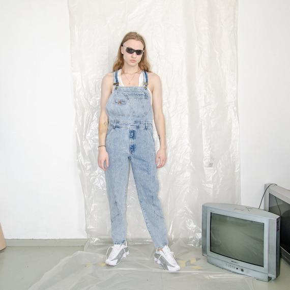 Vintage denim trouser dungarees / unisex