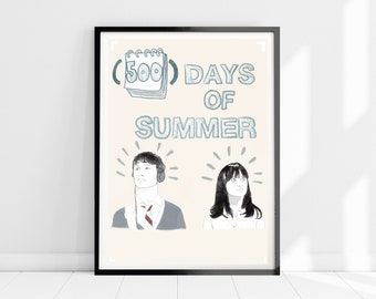A2 SIZE  500 DAYS SUMMER  ART PRINT FILM MOVIE POSTER CANVAS painting