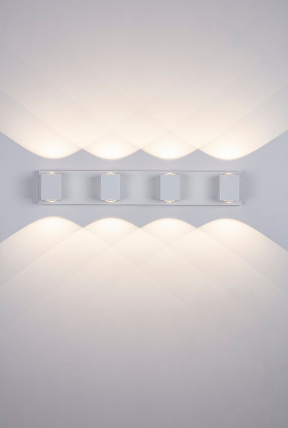 Dimmable Bathroom Wall Sconce 4 Light Vanity Light Fixture Etsy