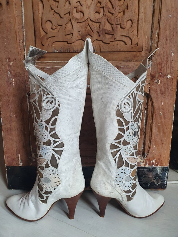 Vintage White Boots
