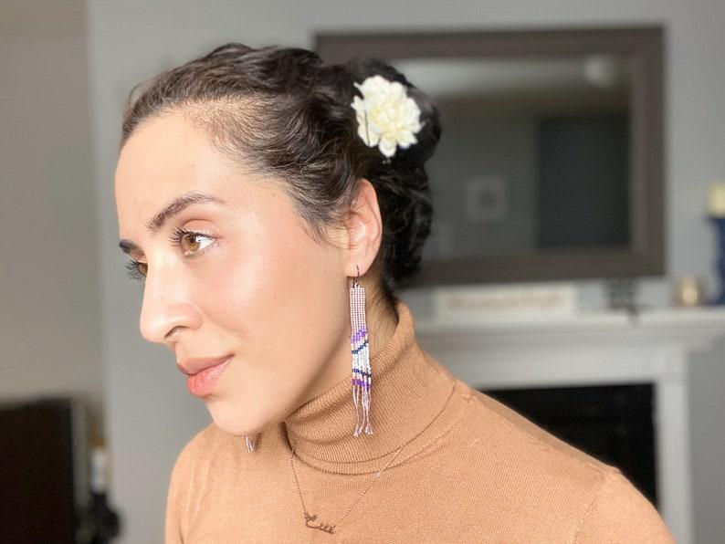 Amethyst Hypoallergenic- Fishhook Miyuki Japanese Beads Gift For Woman Beadwork Multicolor Anodized Niobium El Viaje