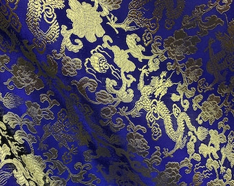 Shiny Decorative Textiles Maroon Sale by Half a Yard Orange Brocade Sari silks Floral Weaved Indian Brocade Silks