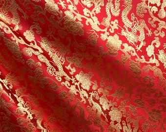 Piece of German brocade fabric dragon